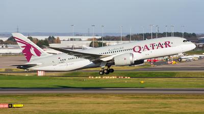 A picture of A7BCX - Boeing 7878 Dreamliner - Qatar Airways - © Martin Hartland