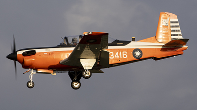 3416 - Beechcraft T-34C Turbo Mentor - Taiwan - Air Force