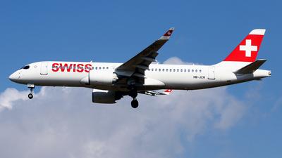 A picture of HBJCR - Airbus A220300 - Swiss - © Javier Rodriguez - Amics de Son Sant Joan