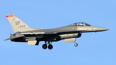 91-0343 - General Dynamics F-16CM Fighting Falcon - United States - US Air Force (USAF)