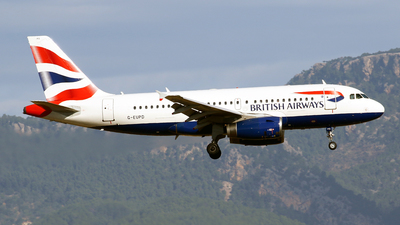 A picture of GEUPD - Airbus A319131 - British Airways - © Javier Rodriguez - Amics de Son Sant Joan
