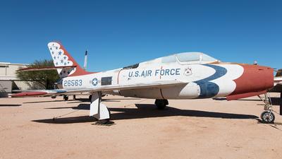 52-6563 - Republic F-84F Thunderstreak - United States - US Air Force (USAF)