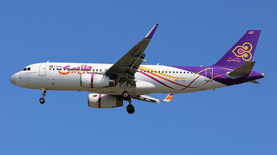 A picture of HSTXU - Airbus A320232 - Thai Smile - © Huang Chengjen