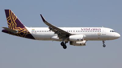 VT-TTH - Airbus A320-232 - Vistara
