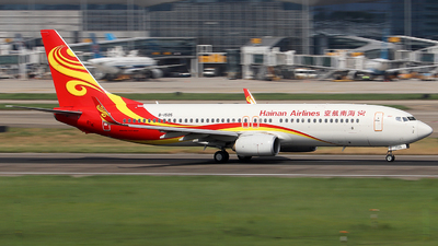 A picture of B1505 - Boeing 73784P - Hainan Airlines - © Samuel Pan
