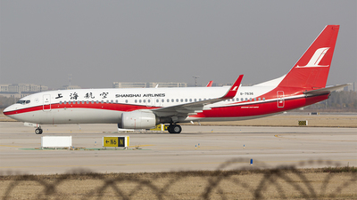 A picture of B7636 - Boeing 73789P - Shanghai Airlines - © Patrick-ZHOU