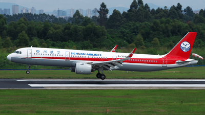 A picture of B309C - Airbus A321271N - Sichuan Airlines - © baobao723