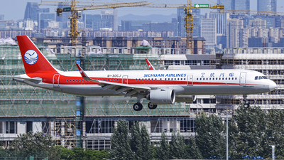 A picture of B30CJ - Airbus A321271N - Sichuan Airlines - © 02RDS