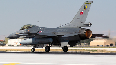 91-0007 - General Dynamics F-16CG Fighting Falcon - Turkey - Air Force