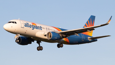 A picture of N253NV - Airbus A320214 - Allegiant Air - © cody baxter