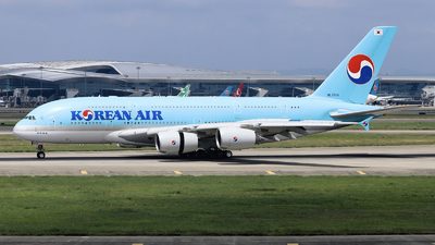 A picture of HL7614 - Airbus A380861 - Korean Air - © nibrage