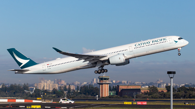 A picture of BLXC - Airbus A3501041 - Cathay Pacific - © aussiepomm