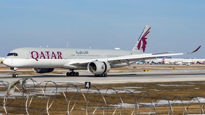 A picture of A7ANN - Airbus A3501041 - Qatar Airways - © Haocheng Fang