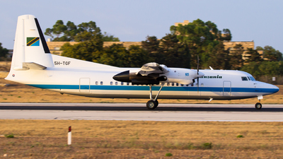 5H-TGF - Fokker 50 - Tanzania - Government