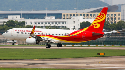 A picture of B1487 - Boeing 73784P - Hainan Airlines - © Keanu Chen