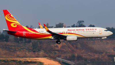 A picture of B5520 - Boeing 73784P - Hainan Airlines - © YaoYi