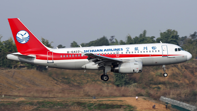 A picture of B6422 - Airbus A319133 - Sichuan Airlines - © baobao723
