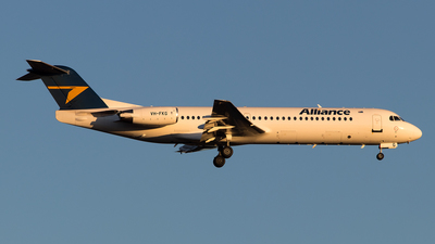 A picture of VHFKG - Fokker 100 - Alliance Airlines - © Lachlan Gatland