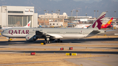 A picture of A7BAJ - Boeing 7773DZ(ER) - Qatar Airways - © leohuang