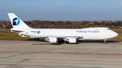 A picture of OOACF - Boeing 7474EVF(ER) - Challenge Airlines - © Matteo Lamberts