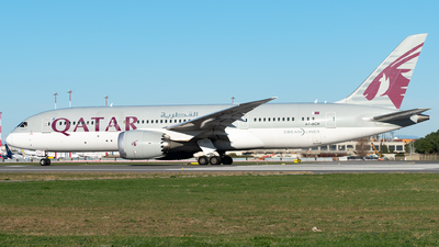A picture of A7BCH - Boeing 7878 Dreamliner - Qatar Airways - © Matei Dascalu - RomeAviationSpotters
