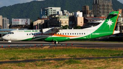 A picture of B17003 - ATR 72600 - UNI Air - © Rex Tsai