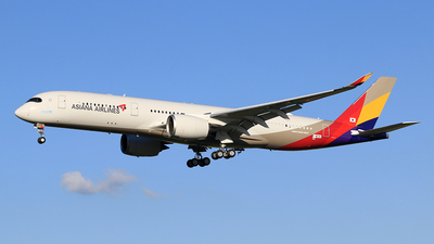 F-WZNY - Airbus A350-941 - Asiana Airlines