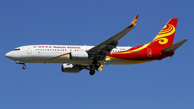 A picture of B1927 - Boeing 73784P - Hainan Airlines - © wangpaul