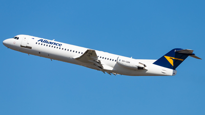 A picture of VHUQN - Fokker 100 - Alliance Airlines - © Brandon Giacomin