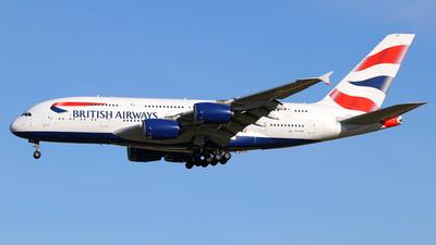 A picture of GXLEK - Airbus A380841 - British Airways - © Óscar López Herrero