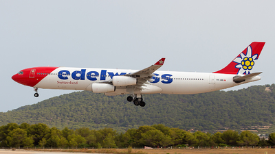 A picture of HBJMD - Airbus A340313 - Edelweiss Air - © Aitor Martinez Nieves