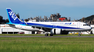 A picture of JA214A - Airbus A320271N - All Nippon Airways - © isokazu