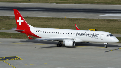 A picture of HBJVP - Embraer E190LR - Helvetic Airways - © OSDU