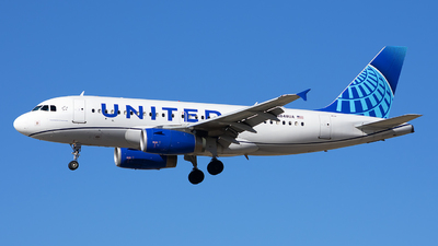 A picture of N848UA - Airbus A319131 - United Airlines - © Michael Rodeback