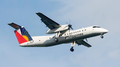 A picture of RPC3018 - De Havilland Canada Dash 8300 - Philippine Airlines - © E.T Brual