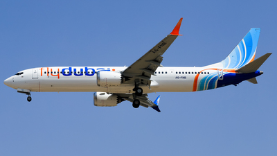 A picture of A6FNB - Boeing 737 MAX 9 - FlyDubai - © Shajie Hussain