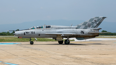164 - Mikoyan-Gurevich MiG-21UM Mongol B - Croatia - Air Force