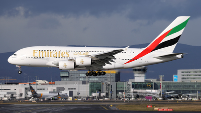 A picture of A6EEJ - Airbus A380861 - Emirates - © JK Photography