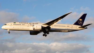 A picture of HZAR11 - Boeing 7879 Dreamliner - Saudia - © Chris Pitchacaren