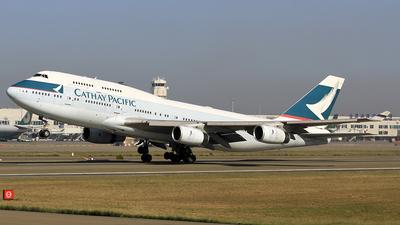 B-HOS - Boeing 747-467 - Cathay Pacific Airways