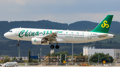 A picture of B6562 - Airbus A320214 - Spring Airlines - © ChengFJ