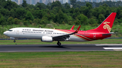 A picture of B1519 - Boeing 73787L - Shenzhen Airlines - © baobao723