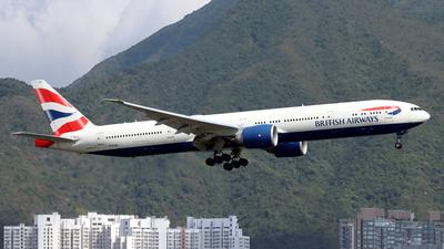 A picture of GSTBE - Boeing 77736N(ER) - British Airways - © Jubilant Chan - AHKGAP