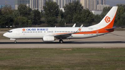 A picture of B5843 - Boeing 73786N - Okay Airways - © Helloeddie