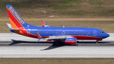 A picture of N7743B - Boeing 7377BD - Southwest Airlines - © Marcel Hohl