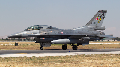 92-0022 - General Dynamics F-16D Fighting Falcon - Turkey - Air Force