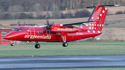 A picture of OYGRM - De Havilland Canada Dash 8200 - Air Greenland - © Ian Howat