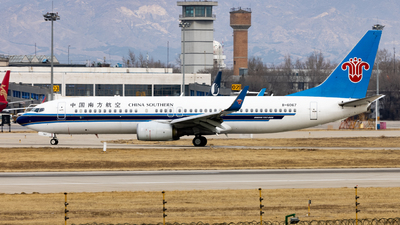A picture of B6067 - Boeing 73781B - China Southern Airlines - © WYANG0520