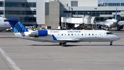 A picture of N915EV - Mitsubishi CRJ200LR - United Airlines - © Michael Rodeback
