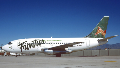 N214AU - Boeing 737-201 - Frontier Airlines